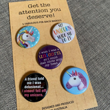 UNICORN mini badge set