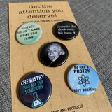 SCIENCE mini badge set