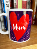MUM hearts (sparkly)