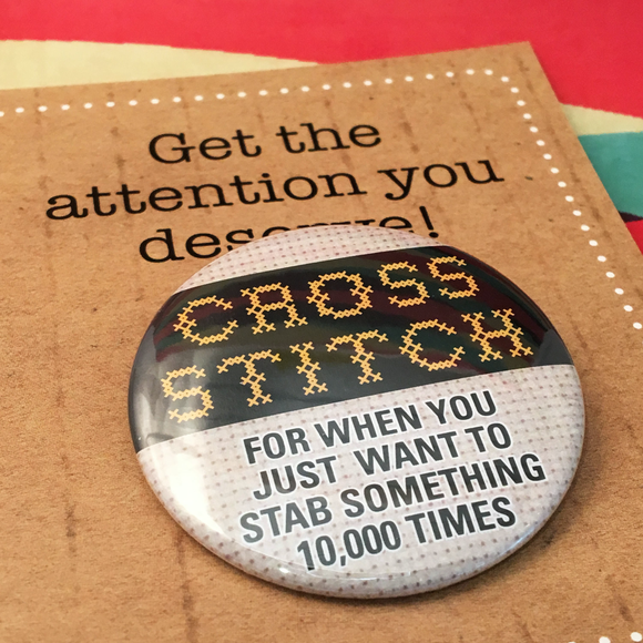 Cross Stitch—stab something 10,000 times