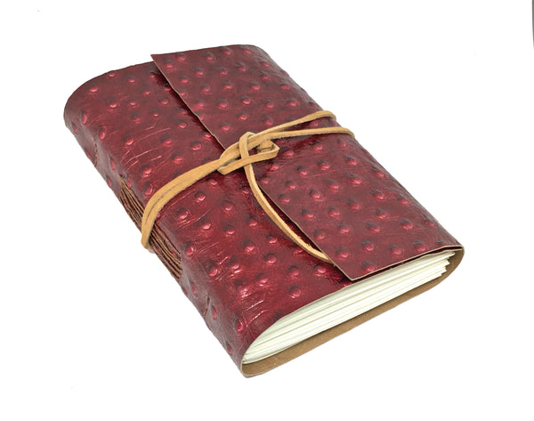 Burgundy Emblossed Leather Journal with Blank Paper / Journal / Travel Notebook / Leather Journal,  Diary / Wedding Vows