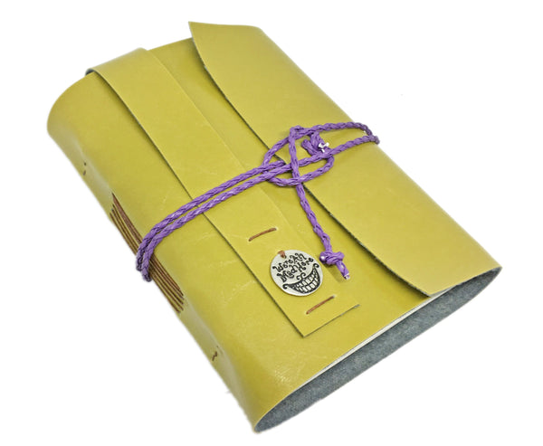 Faux Leather Journal with Blank Pages and Alice in Wonderland Charm