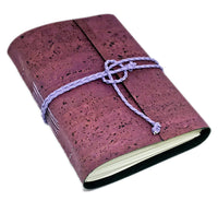 Purple Vegan Cork Leather Alternative  Journal with Blank Pages / Leather Alternative
