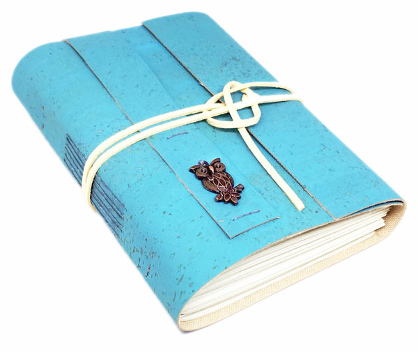 Vegan Handbound Journal with Blank Pages / Cork / Leather Alternative / Eco-Friendly Journal