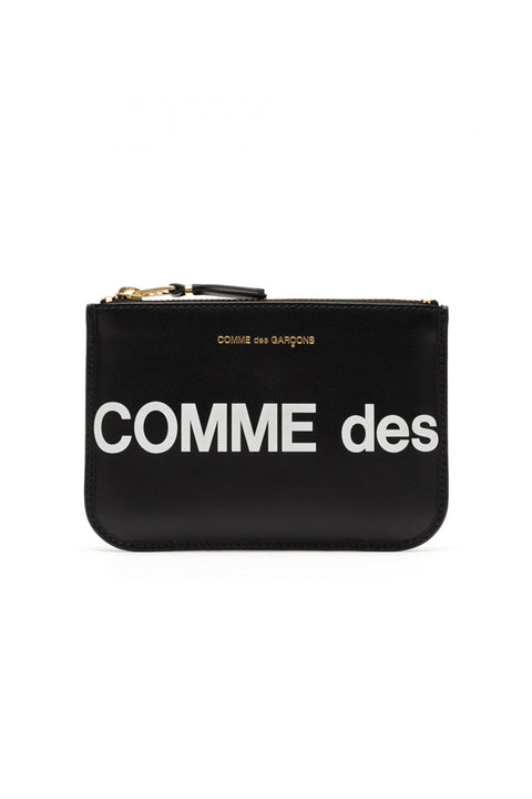 CDG HUGE LOGO WALLET (BLACK SA8100HL)