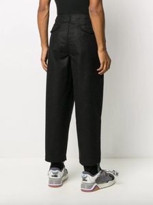 HIGH-WAISTED CROPPED TROUSERS