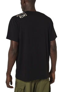 PEARL EMBROIDERED T-SHIRT BLACK
