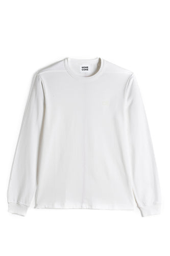 L/S TEESH SMALL LOGO WHITE