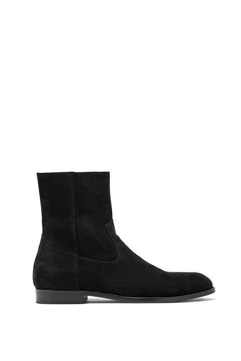 BLACK SUEDE FLOYD ANKLE BOOTS