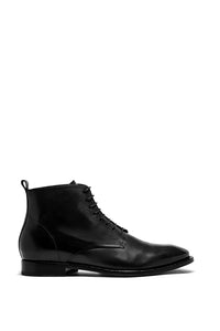 BLACK LEATHER KINGSLEY BOOTS - MADE IN ITALY