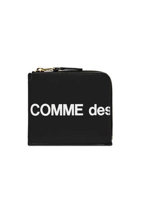 CDG HUGE LOGO WALLET (BLACK SA3100HL)