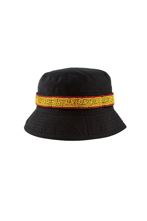 Embroidered Bucket Hat - Black