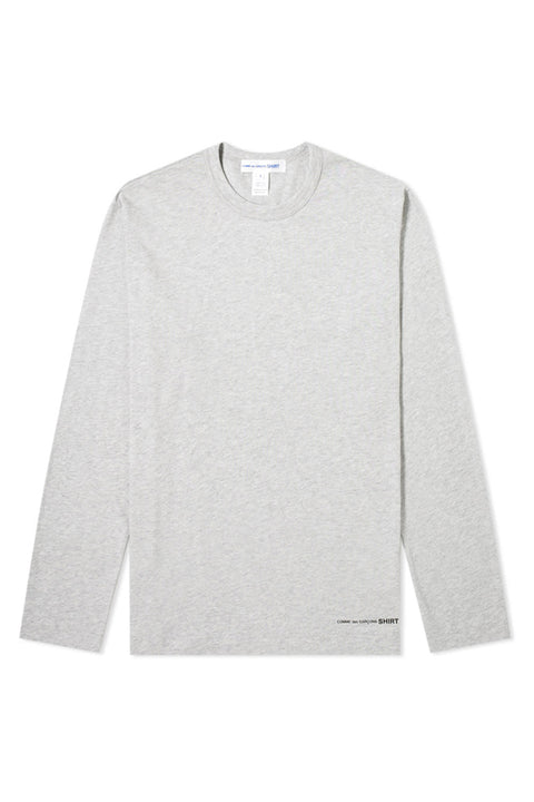 BASIC GREY TEE - long sleeve - LOGO HEM