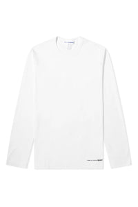 BASIC WHITE TEE - long sleeve - LOGO HEM