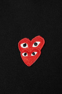RED DOUBLE HEART LOGO HOODIE