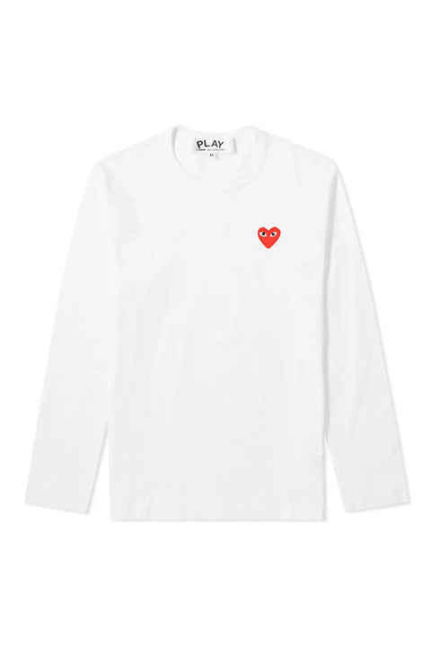 RED HEART LOGO T-SHIRT LS