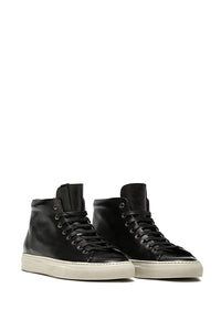 TANINO MID LEATHER SNEAKERS - Made in Italy