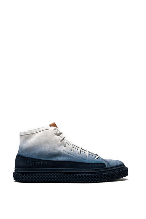 BRIGATA MID TOP SNEAKERS IN BLUETTE SUEDE - MADE IN ITALY