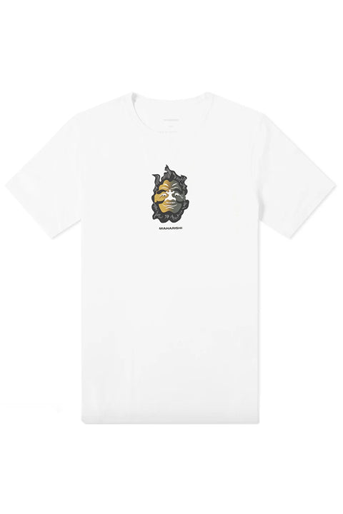 Two Way Face Tee - White