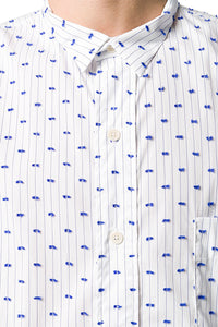 BLUE STRIPE AND DOT TAPE SHIRT