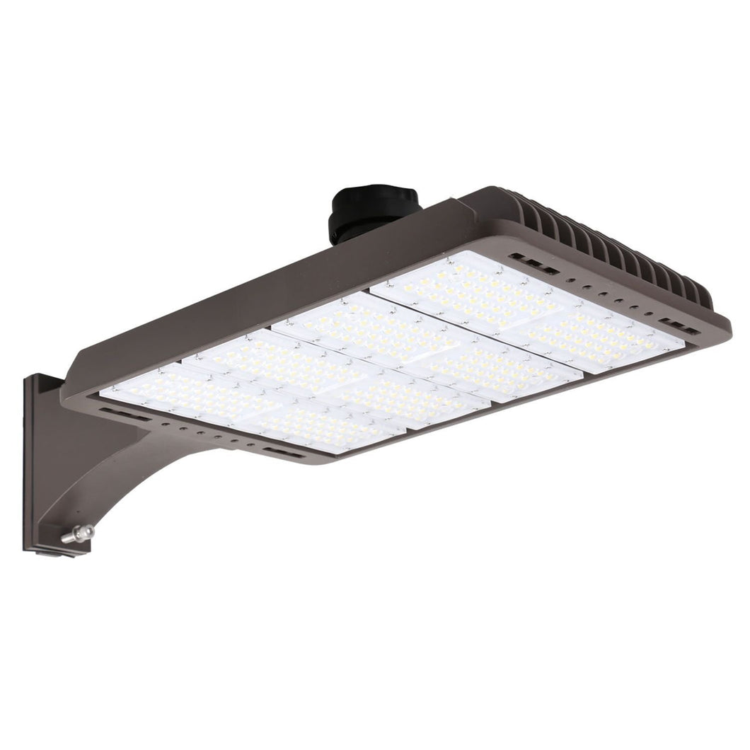 240W LED SHOEBOX OUTDOOR COMMERCIAL POLE LIGHT PARKING LOT FIXTURE 28800LM 5000K