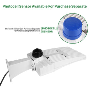 150W LED SHOEBOX WHITE OUTDOOR COMMERCIAL POLE LIGHT PARKING LOT FIXTURE 18700LM 5700K (HKY)