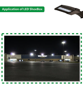 100W LED SHOEBOX OUTDOOR COMMERCIAL POLE LIGHT PARKING LOT FIXTURE 12500LM 5700K ARM MOUNTING