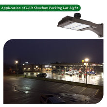 185W LED SHOEBOX OUTDOOR COMMERCIAL POLE LIGHT PARKING LOT FIXTURE 22200LM 5000K