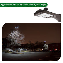 150W LED SHOEBOX OUTDOOR COMMERCIAL POLE LIGHT PARKING LOT FIXTURE 18000LM 5000K