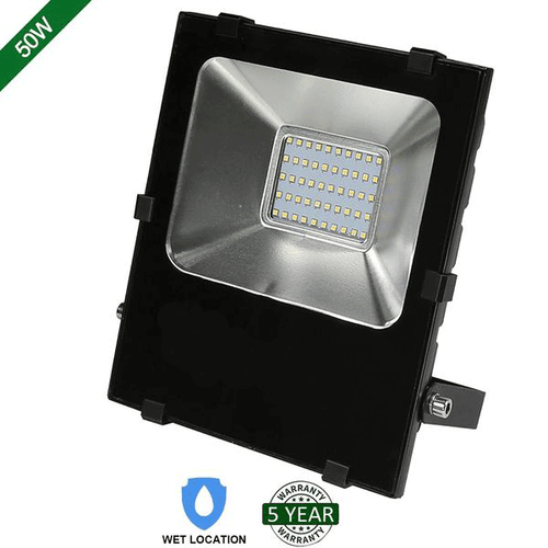50W LED FLOOD LIGHT OUTDOOR SECURITY LIGHTING FIXTURE 5000LM 5000K (HYK)