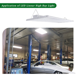 4FT 250W LED LINEAR HIGH BAY COMMERCIAL WAREHOUSE LIGHT FIXTURE 32500LM 5000K