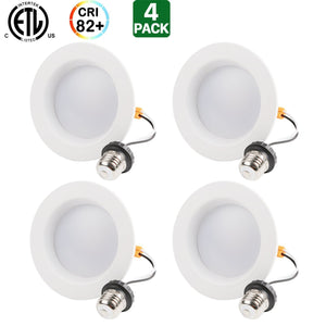 "4"" 10W LED DOWNLIGHT 5000K RECESSED CAN LIGHT"