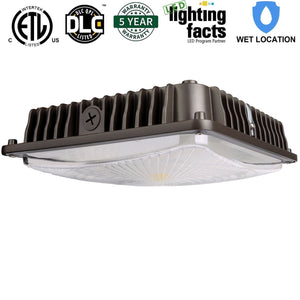 65W LED CANOPY LIGHT HIGH BAY CEILING LIGHT 7500LM 5000K