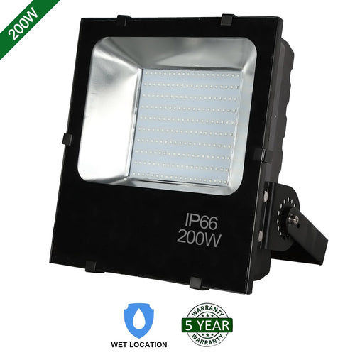 200W LED FLOOD LIGHT OUTDOOR SECURITY LIGHTING FIXTURE 20000LM 5000K (HYK)