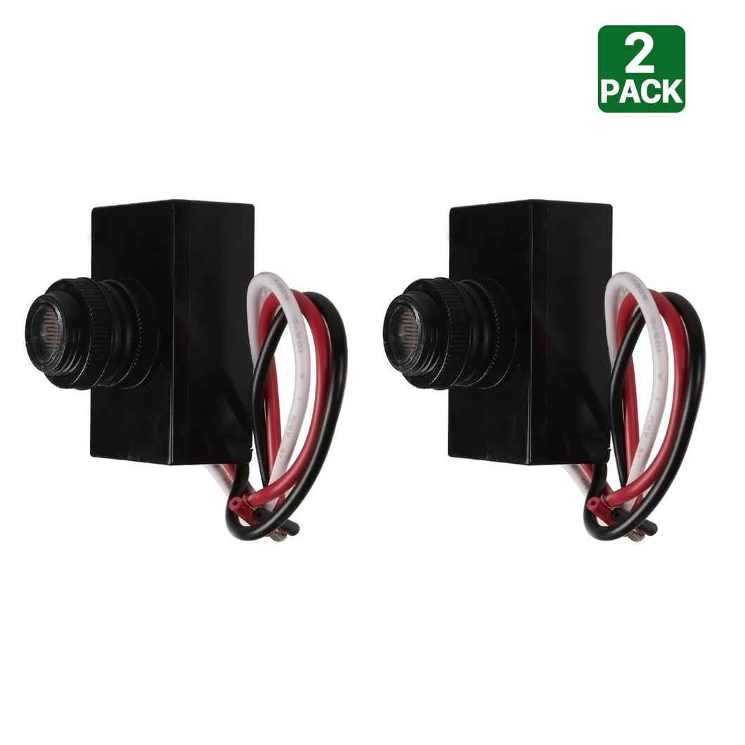 OUTDOOR POST EYE LIGHT PHOTO CONTROL THERMAL TYPE DUSK-TO-DAWN LIGHT SENSOR-PACK OF 2 (HYK)