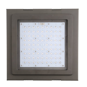 60W LED CANOPY LIGHT DIMMABLE WEATHERPROOF HIGH BAY BALCONY LIGHT 7660LM 5000K (HKY)
