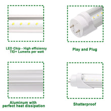 Tubo de LED de 4' 18W 1980LM 5000K (T8/T10/T12) Optica Escarchada