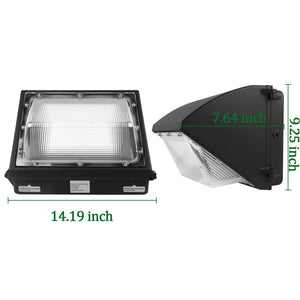 100W LED WALL PACK LIGHT PERIMETER SECURITY LIGHTING FIXTURE 12500LM 5000K (HYK)