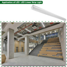 8FT 64W LED LINEAR LIGHT FIXTURE DIMMABLE LINKABLE 8350LM 5000K (HYK)