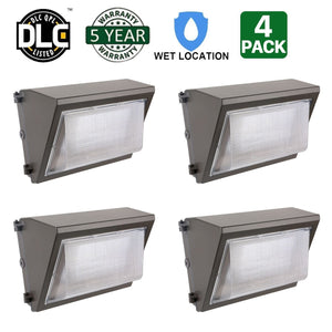 40W LED WALL PACK LIGHT PERIMETER SECURITY LIGHTING FIXTURE 5000LM 5000K (HYK)