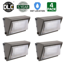 80W LED WALL PACK LIGHT PERIMETER SECURITY LIGHTING FIXTURE 10000LM 5000K