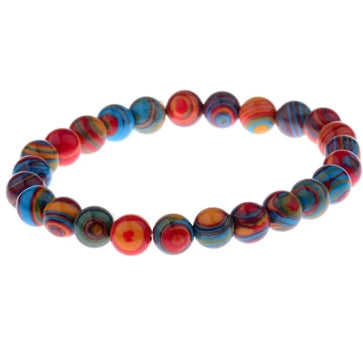 Colorful Chakra Stone Beaded Bracelet [2 Variants] - mymatmyyoga