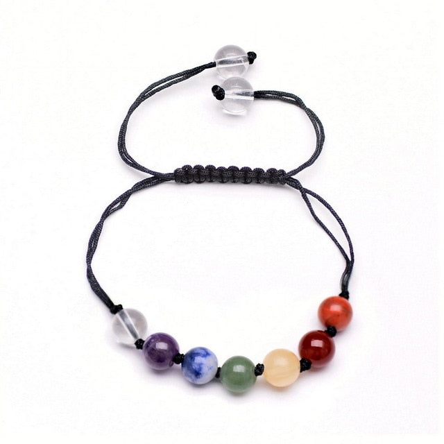 BUY ONE GET ONE FREE Adjustable Spiritual Chakra Crystal Bracelet - mymatmyyoga