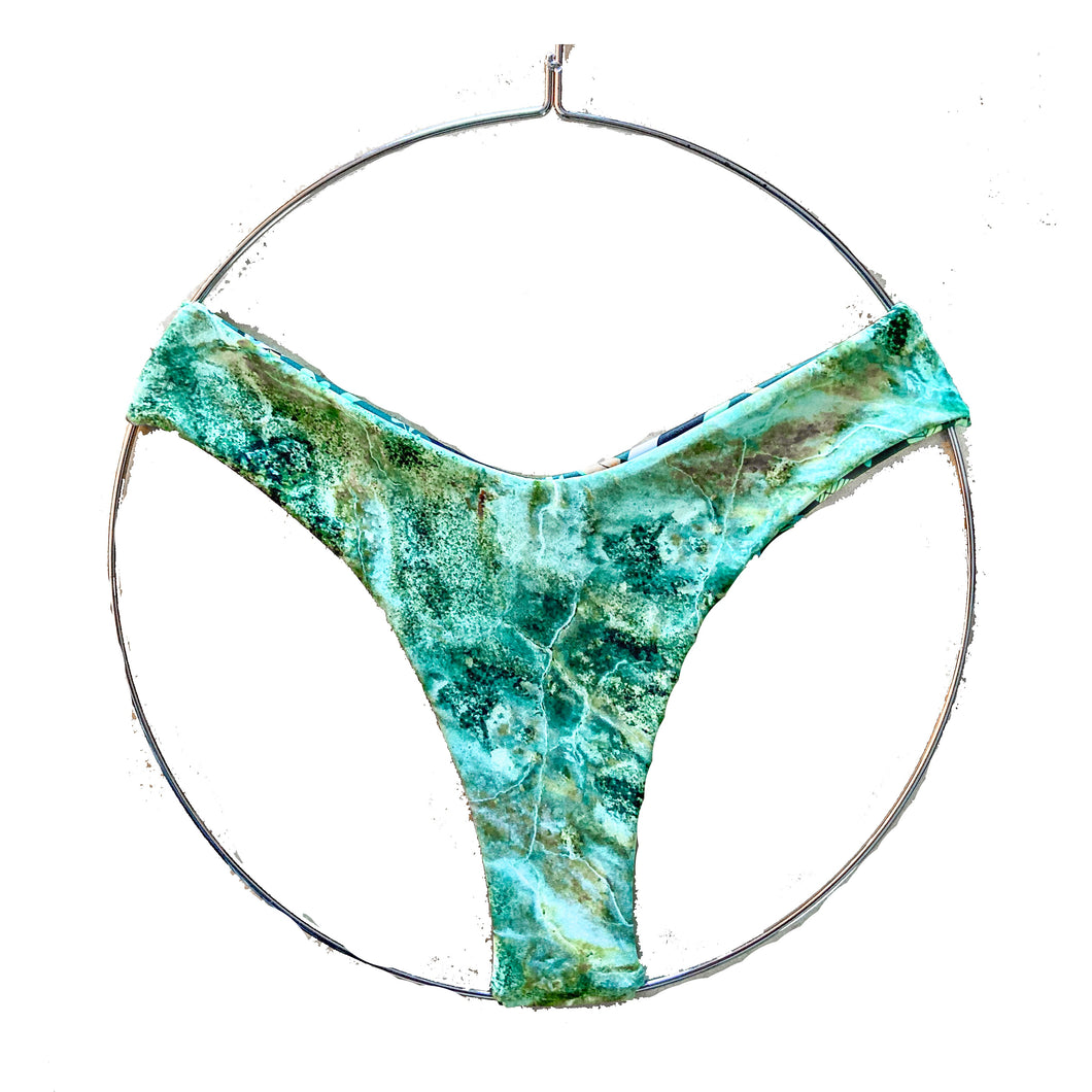 Jade Marble Reversible Bottoms ~ Crush