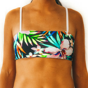 Neon Flowers Reversible Top ~ Dory