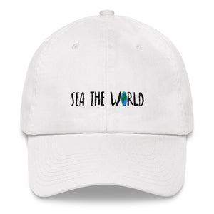 Sea The World Dad Hat