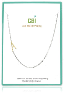 Jewelry  - Small Initial Sideways Necklace