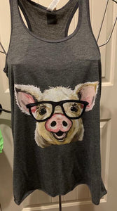 Pig with Glasses Tank