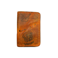 1960's Nokona Bulldog 3-Pocket Fold-Over Card Wallet