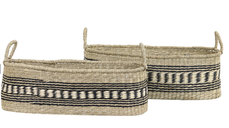 Set of 2 CHATTO natural baskets